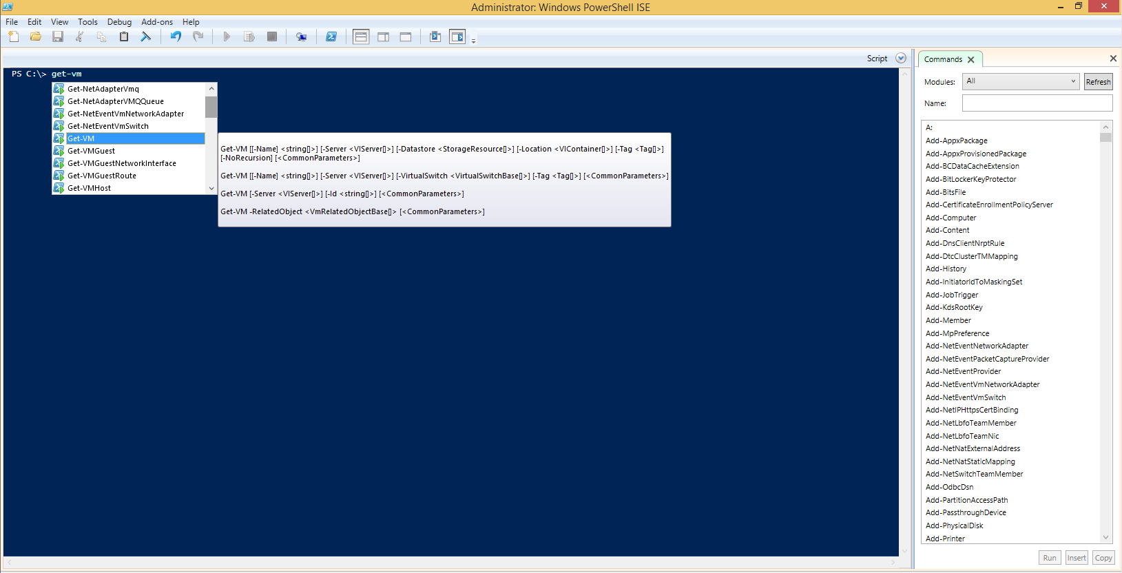 powercli-in-powershell-ise
